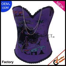 de color púrpura de impresión de algodón ardyss corsé de la magia del cuerpo shaper