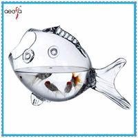 high quality fish shaped new design table decorative new fish aquarium