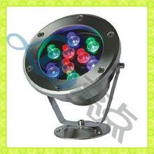 New fashion 9W 24V round IP68 led pool light par56 rgb