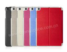 2013 multi color fashion thin leather case for ipad mini