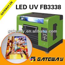 direct UV printer for transparent lenticular PVC film,crystal,,acrylic KT board 3D inkjet DX5 UV flatbed printer with clear ink