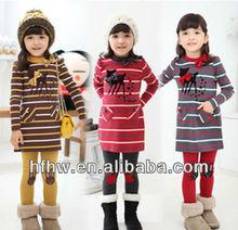 2013 SPRING CLOTHING GIRL WOOL SUIT CHILDREN KOREAN LEISURE 2 PIECES