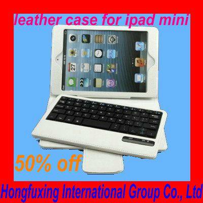 New Arrival white book leather case for ipad mini