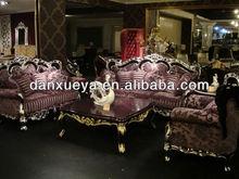 European style sectional sofa purple fabric sofa 810#
