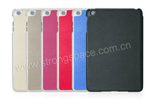 Different colors book leather case for ipad mini
