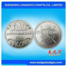 2012 Custom silver metal coin