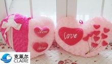 heart shape plush cushion