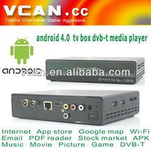 VCAN0405 Android TV box DVB-T media player 4.0 google TV tuner /android internet tuner tv box