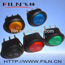 Red ON-OFF automotive rocker switch 120v 3pins with light FL3-016