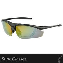 Transparent TR90 Frame blue dot Ice Iridium Vented lens 3 pairs lens Cycling Glasses
