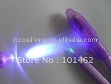 Magic pen lumière uv/détecteur uv argent stylo à plume ch-0812invisble
