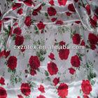 floral printed satin fabric