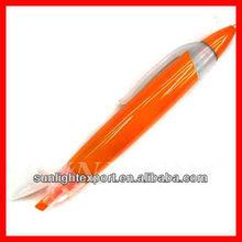 Orange plastic two-in-one highlighter pen 2 sided pen