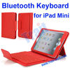 Newest 2-in-1 Stand Leather Case for iPad Mini Removable Wireless Bluetooth Keyboard