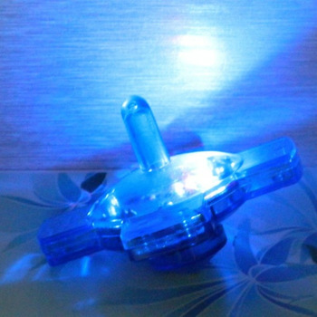 Plastic spin top toy, multi color led light