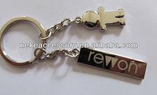 custom girl charm metal keychain