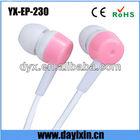 PVC custom case earphone colored headphone jack plug for iphone
