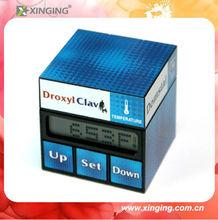 Promotional Gift Digital Clock with maze cube design best for logo print or artwork design