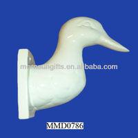 Ceramic Duck Wall Mount Towel Bath Coat Hook