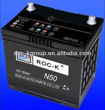 Maintnenace free Automotive battery N50