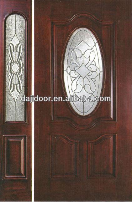 De lujo de cristal inserta oval puertas exteriores dise o for Disenos de puertas en madera y vidrio