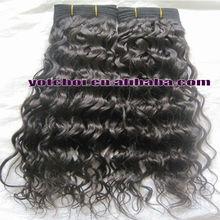 "2013 Hot sale China Qingdao Yotchoi Factory 100% human hair 18"" #1b grade AAAA loose curly hair products"