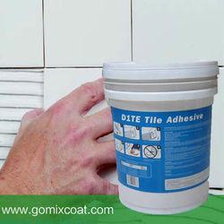 glue porcelain tile floor