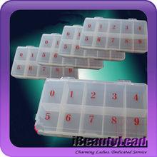 2013 acrylic nail container for 500pcs nail tips