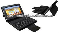 "Silicone Wireless 3.0 Bluetooth Keyboard + Leather case for Samsung Galaxy Tab7"" Plus P6200 BLACK"