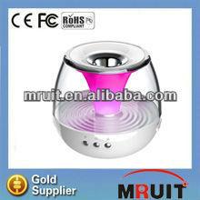 aaa battery mini speaker with mood light,MP3 speaker and FM radio