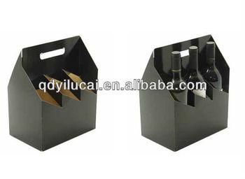 cardboard 4 bottle wine carrier