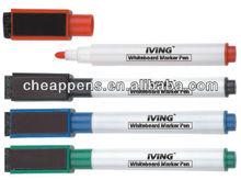 Magnetic dry wipe pen
