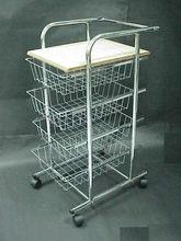 4 Tier Wire kitchen storage trolley
