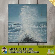 Decoration art painting landscape blue sea scenery