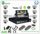 h.264 cctv camera dvr kit with 8pcs 700tvl ir camera (GRT-D7008MHK3-3SH)
