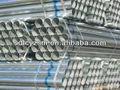 Eléctrico- cruce sin costura ronda de tubo de acero galvanizado