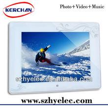 shenzhen 8 inch battery powered digital frame video loop