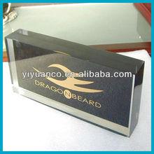 Acrylic logo plaque/acrylic logo block