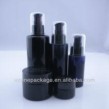 purple glass cosmetic bottle and jar,lotion bottle,cosmetic bottle