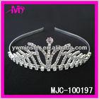 rhinestone royal alloy tiara for wedding 2013