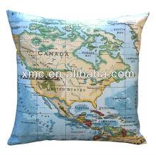 Custom order - World Map Throw Pillow Cover