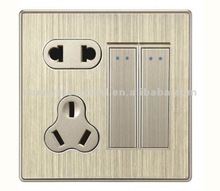 new developed 2gang electric wall switch socket