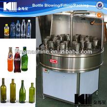 Semi-automatic glass bottle flusher/douche/rinser/irrigation syringe