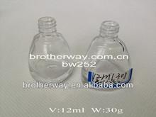12ml nail polish glass bottle 30g