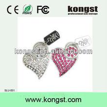 100% full capacity heart jewel usb flash