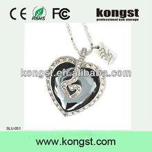 new style full capacity heart jewel usb flash
