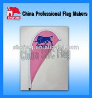 Indoor Banner Decorative Beach Flag With Fiberglass Rod