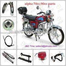 piezas de la motocicleta alpha 70