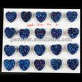D031 corazón azul de ágata drusy druzy cabochon piedras preciosas al por mayor, personalizar
