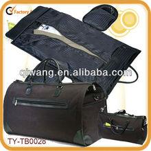 Lightweight 21 inch carry on leather garment bag duffel bag